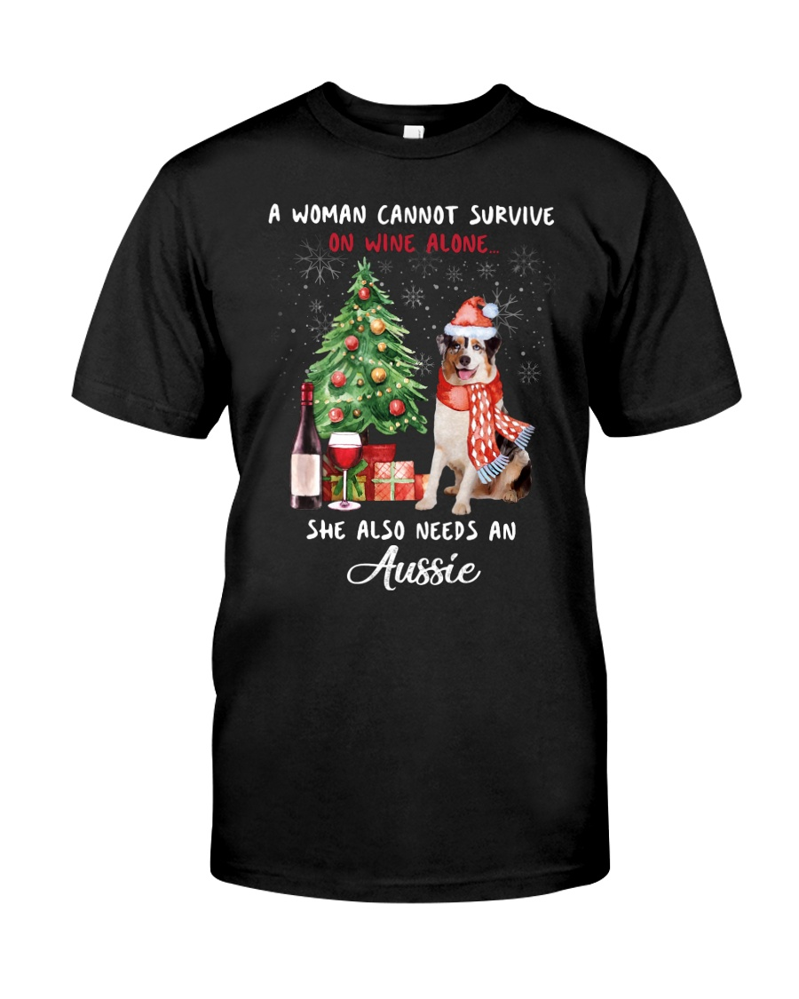 Christmas Wine and Aussie Classic T-Shirt