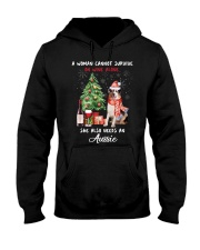 Christmas Wine and Aussie Hooded Sweatshirt thumbnail