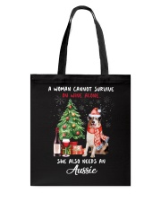 Christmas Wine and Aussie Tote Bag thumbnail