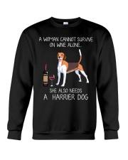 Wine and Harrier Dog Crewneck Sweatshirt thumbnail