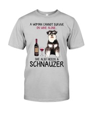 Wine and Schnauzer 4 Classic T-Shirt front