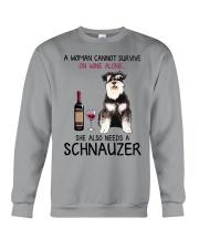 Wine and Schnauzer 4 Crewneck Sweatshirt thumbnail