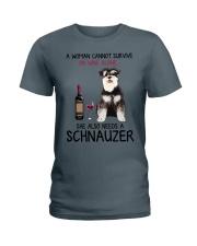 Wine and Schnauzer 4 Ladies T-Shirt thumbnail