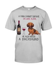 Wine and Dachshund - Man Classic T-Shirt front