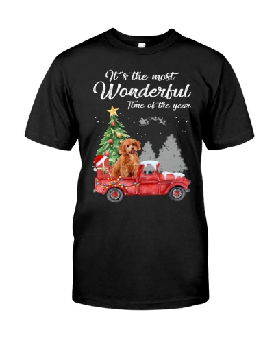 Wonderful Christmas with Truck - Poodle