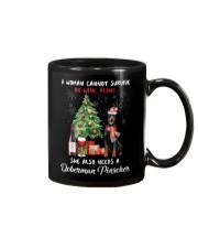 Christmas Wine and Doberman Pinscher Mug thumbnail