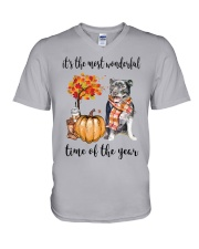 The Most Wonderful Time - Staffie V-Neck T-Shirt thumbnail