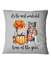 The Most Wonderful Time - Staffie Square Pillowcase thumbnail
