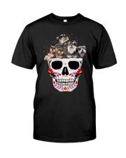 Half Skull Schnauzer Classic T-Shirt front