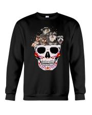Half Skull Schnauzer Crewneck Sweatshirt thumbnail