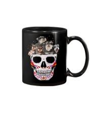 Half Skull Schnauzer Mug thumbnail