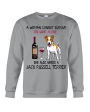 Wine and Jack Russell Terrier 2 Crewneck Sweatshirt thumbnail