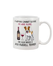 Wine and Jack Russell Terrier 2 Mug thumbnail