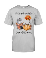 The Most Wonderful Time With Cat Classic T-Shirt front