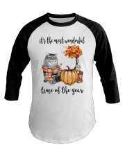 The Most Wonderful Time With Cat Baseball Tee thumbnail