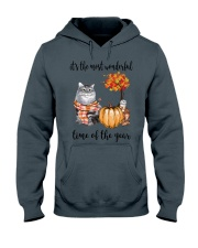 The Most Wonderful Time With Cat Hooded Sweatshirt thumbnail
