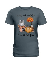 The Most Wonderful Time With Cat Ladies T-Shirt thumbnail
