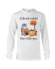 The Most Wonderful Time With Cat Long Sleeve Tee thumbnail