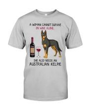 Wine and Australian Kelpie 2 Classic T-Shirt front