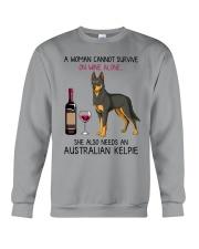 Wine and Australian Kelpie 2 Crewneck Sweatshirt thumbnail