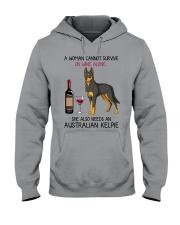 Wine and Australian Kelpie 2 Hooded Sweatshirt thumbnail