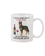 Wine and Australian Kelpie 2 Mug thumbnail