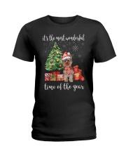 The Most Wonderful Xmas - Yorkie Ladies T-Shirt thumbnail