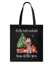 The Most Wonderful Xmas - Yorkie Tote Bag thumbnail