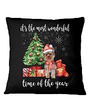 The Most Wonderful Xmas - Yorkie Square Pillowcase thumbnail