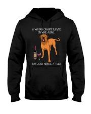 Wine and Tosa Hooded Sweatshirt thumbnail