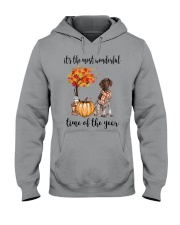 The Most Wonderful Time German Shorthaired Pointer Hooded Sweatshirt thumbnail