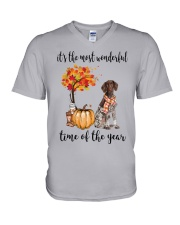 The Most Wonderful Time German Shorthaired Pointer V-Neck T-Shirt thumbnail