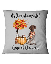 The Most Wonderful Time German Shorthaired Pointer Square Pillowcase thumbnail