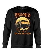 RV Brooms Are For Amateurs Crewneck Sweatshirt thumbnail