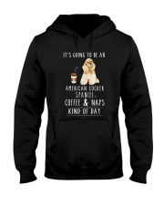American Cocker Spaniel Coffee and Naps Hooded Sweatshirt thumbnail