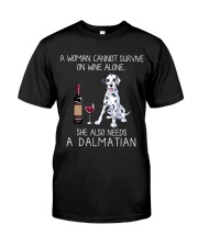 Wine and Dalmatian Classic T-Shirt front