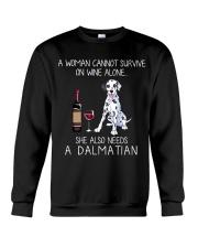 Wine and Dalmatian Crewneck Sweatshirt thumbnail