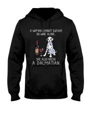 Wine and Dalmatian Hooded Sweatshirt thumbnail
