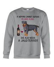 Wine and Jagdterrier 2 Crewneck Sweatshirt thumbnail