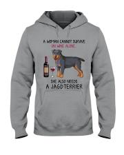 Wine and Jagdterrier 2 Hooded Sweatshirt thumbnail