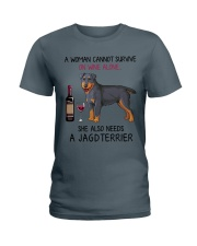 Wine and Jagdterrier 2 Ladies T-Shirt thumbnail