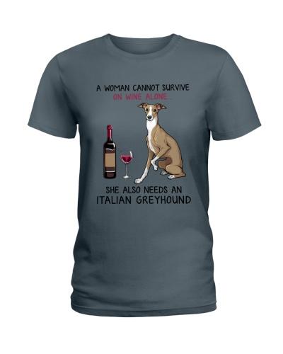 Wine and Italian Greyhound 2