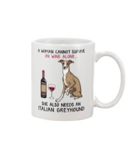 Wine and Italian Greyhound 2 Mug thumbnail