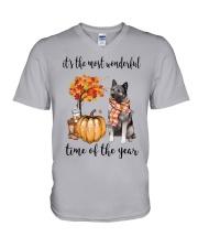 The Most Wonderful Time - Norwegian Elkhound V-Neck T-Shirt thumbnail