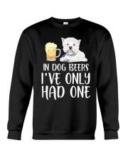In Dog Beers I've Only Had One - Westie Crewneck Sweatshirt thumbnail