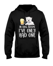 In Dog Beers I've Only Had One - Westie Hooded Sweatshirt thumbnail