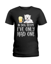 In Dog Beers I've Only Had One - Westie Ladies T-Shirt thumbnail