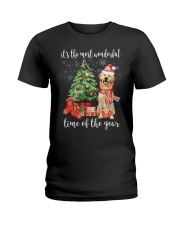 The Most Wonderful Xmas - Golden Retriever Ladies T-Shirt thumbnail