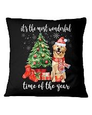 The Most Wonderful Xmas - Golden Retriever Square Pillowcase thumbnail