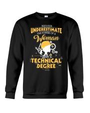 Technical woman Crewneck Sweatshirt thumbnail